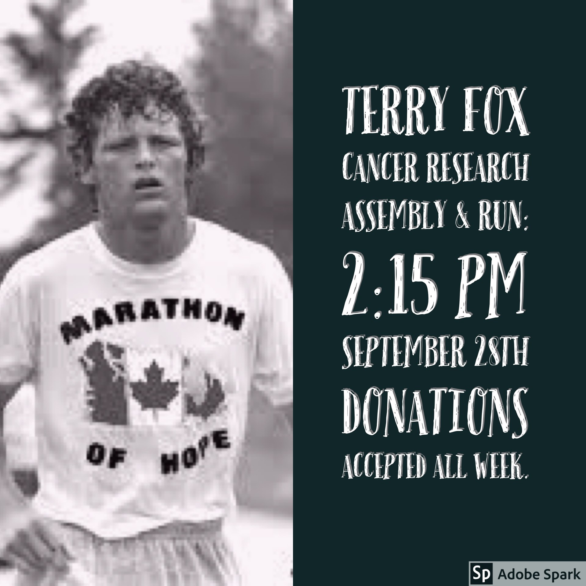 Terry Fox Announcement.JPG