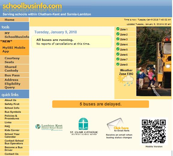 Get the School Bus Info app