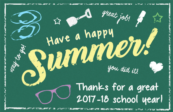 Thanks for a great 2017-2018 school year!