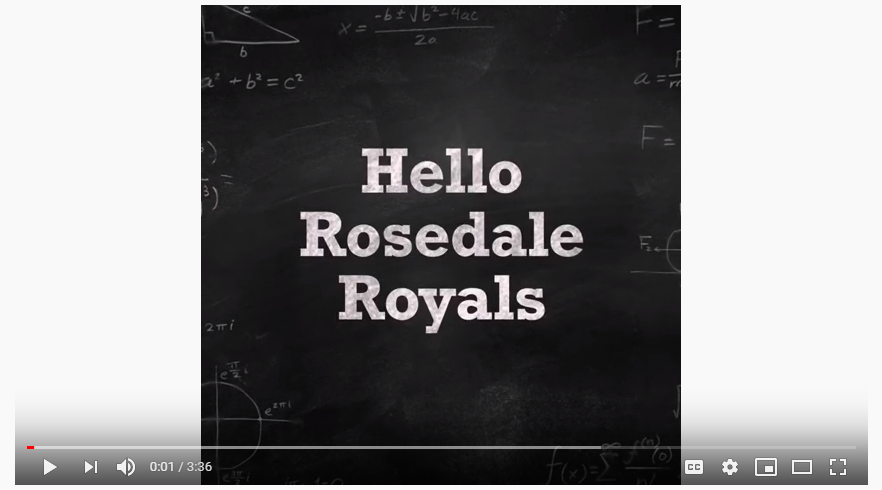 Message to Rosedale Royals!