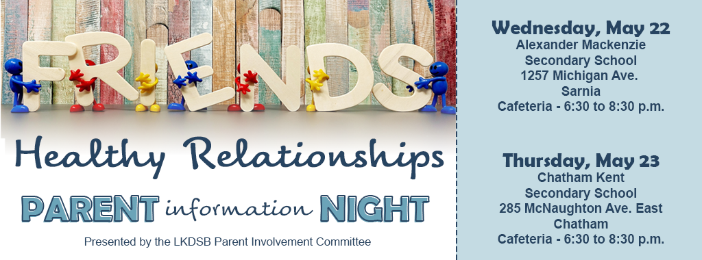Healthy Relationships Parent Information Night