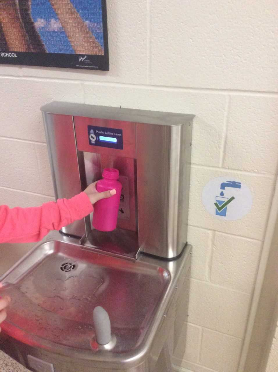 Riverview's Water Bottle Filling Station is a Success!